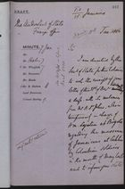 Draft of Letter to Under Secretary of State, Foreign Office, January 11, 1886