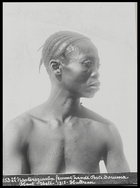 woman with plaited and shaved hair