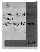 1995 Summary of New Laws Affecting Women