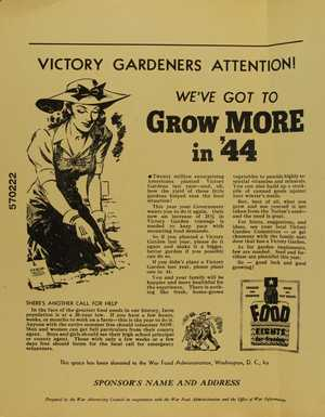 Ads for Victory Gardens, 1944