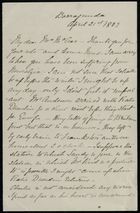 Letter from Edith Anderson to Georgiana McCrae, April 21, 1883