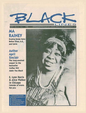 BLACKlines, Vol. 1 no. 2, March 1996