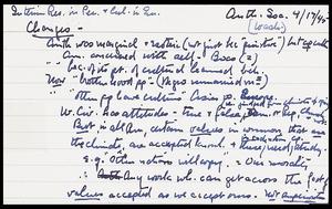 Miscellaneous notes, 1930-5