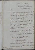 Letter from Governor Bayley to W. Stuart re: Emigration of Coloured Population from U.S. to Bahamas, October 2, 1862