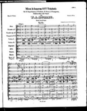 Missa, K. 167, C Major