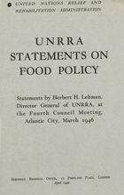 UNRRA Statements on Food Policy
