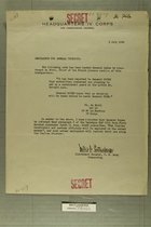 Memo from Willis D. Crittenberger to General Truscott, July 2, 1945