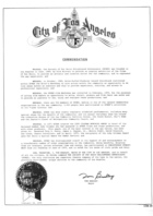 City of Los Angeles Commendation