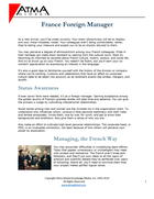 France Foreign Manager