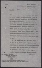 Letter from W. A. Smart to Foreign Office re: French Civilian Women Evacuated from Damascus, Reinforcements Arrive, and a Push for Negotiated Peace with the Druze, August 12, 1925