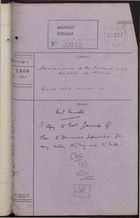 Correspondence Cover Sheet re: Attached Documents on Imprisonment of J. McFarland in Mexico, September 14, 1908