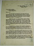 Letter from A. Brandford, Liston Stone, Dick Moore, and Josiah Arboine to Colonel Chester Harding, re: 'Colored Discharged Men' of the U.S. Army Request Privileges and Pay of American Citizens, March 21, 1919