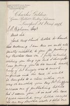 Letter from John Gildea to J. C. Bigham, re: Thank You for Efforts on Behalf of Brother, William Gildea, May 25, 1897