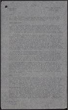 Copy of Letter from F. C. Mason to W. Kingsley Smith re: Report on Camp Bierd, Labour Camp at Cristobal, July 19, 1943