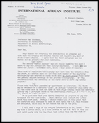 Letter from Ruth Jones to MG, 8 June - thanks him for helpful remarks concerning Introduction