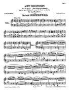 Acte Variationen über das Thema: 'Un fièvre brûlante' aus der Oper: Richard coeur de lion von Grétry