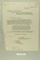 Memo from E. D. Anderson re: Transfer of 1 Battalion, 37th Infantry, from Laredo,Texas, to the Big Bend District and 2 Companies of 19th Infantry to Arizona, March 6, 1919