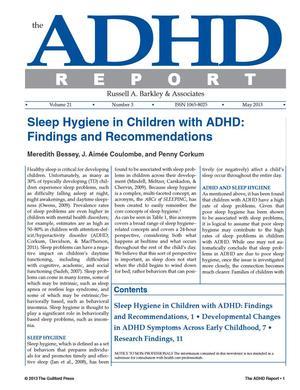 ADHD Report, Volume 21, Number 03, June 2013