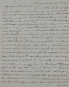 Letter from Hannibal Hawkins MacArthur to William Leslie, March 3, 1843