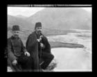 The Kaymakam of Tepelini sitting on the favourite seat of Ali Pasha