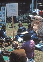 African women research meeting on University of Nairobi lawns, Nairobi, 1985, International Women's Tribune Centre Slide Show, NGO Forum, Nairobi