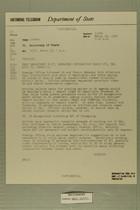 Telegram from Winthrop Aldrich to Secretary of State, March 26, 1954