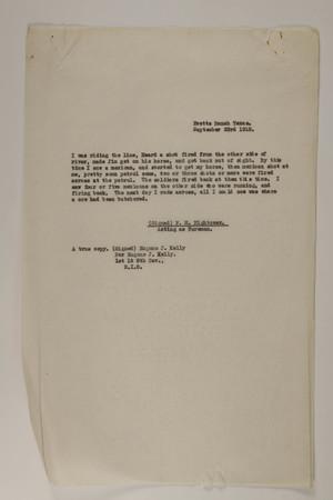 Deposition of F. M. Hightower, September 23, 1918