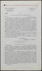 Letter from Sir F. Bertie to Sir Edward Grey, March 9, 1912