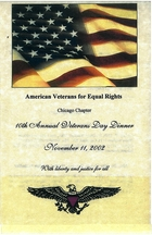 10th Annual Veterans Day Dinner, November 11, 2002