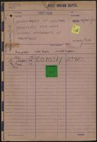 File Folder: Development of Welfare Facilities for West Indian Immigrants in Sheffield, 1957-1959