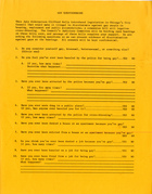 Gay Questionnaire