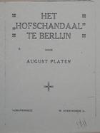 Magnus Hirschfeld Scrapbook: Het Hofschandaal Te Berlijn