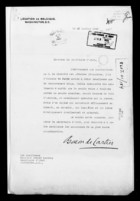 Letter from Baron de Cartier to Robert Lansing, January 23, 1920