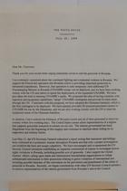 Letter from President Bill Clinton to Senator Joseph R. Biden re:Rwanda, July 26, 1994
