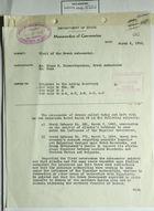 Memo of Conversation from James Clement Dunn re: Visit of Greek Ambassador Cimon P. Diamantopoulos, March 6, 1945