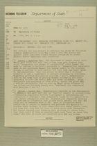 Telegram from Ivan B. White in Tel Aviv to Secretary of State, May 3, 1956