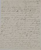 Letter from Kate MacArthur Leslie to William Leslie, August 3, 1840