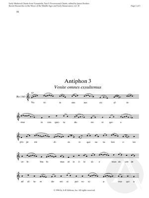 Antiphon 3:  Venite omnes exsultemus
