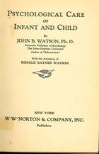 Psychological Care of Infant and Child
