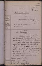 Correspondence Cover Sheet re: Communication between Trinidad and Venezuela, July 31, 1907