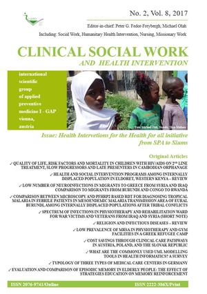 Clinical Social Work and Health Intervention, No. 2, Vol. 8, 2017, Clinical Social Work, No. 2, Vol. 8, 2017