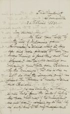 Letter from Ellie Love MacPherson to Jessie Love, April 26, 1885