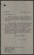 Letter from G. C. Veysey to H. N. Grundy re: F. W. Leggett's Letter to Sir George Gater on the Colour Bar in Merseyside, August 1944