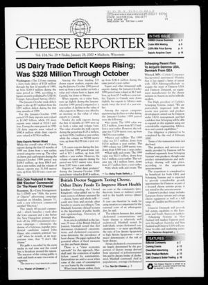 Cheese Reporter, Vol. 124, No. 29, January 28, 2000