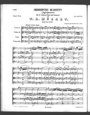 Siebzehntes Quartett