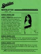 Buddies [Bar] Newsletter, March 1991