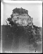 Chichen upper temple of Jaguar back (east) view see 33774