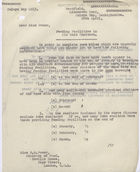 Memo to Miss B.M. Power re: Feeding Facilities in Air Raid Shelters, 28th April