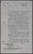 Letter from W. A. Smart to Foreign Office re: Protest of Druze Chiefs to General Sarrail, June 23, 1925