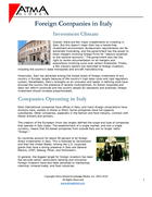 Italy Foreign Companies